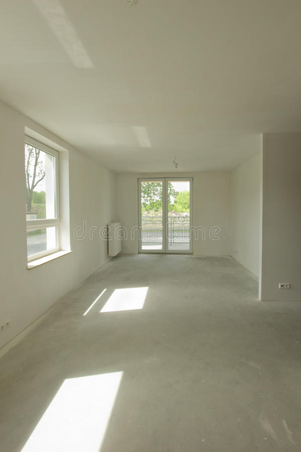 建筑空的内部新的空间 库存图片