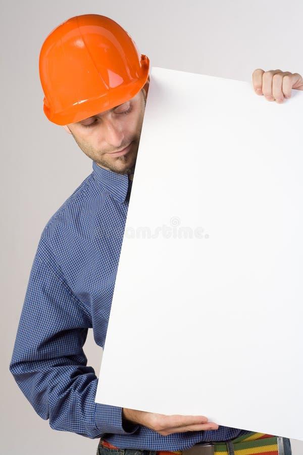 建筑符号工作者 免版税库存照片