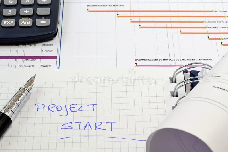 建筑管理计划项目 库存图片