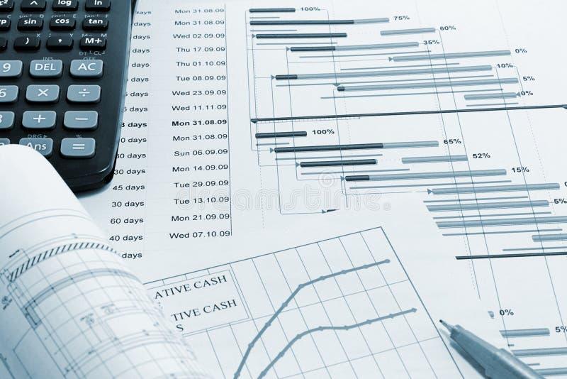 建筑管理计划项目 免版税库存照片
