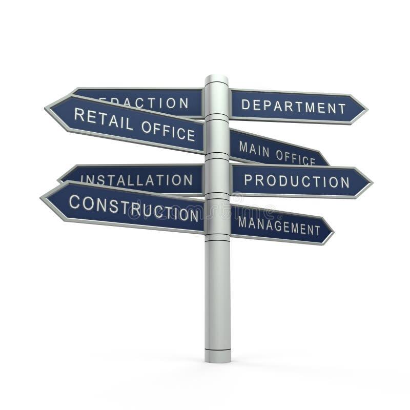 建筑管理 向量例证