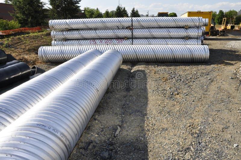 建筑管道系统 库存照片
