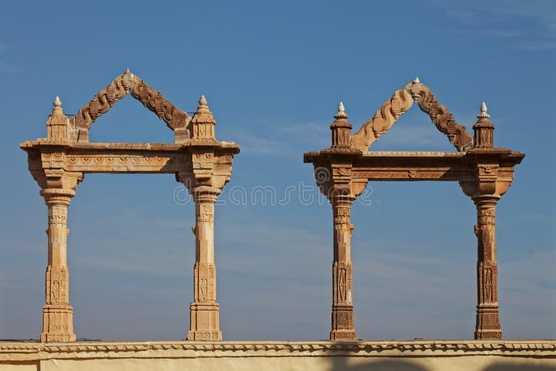 建筑细节,乌代浦,拉贾斯坦,印度 免版税库存照片