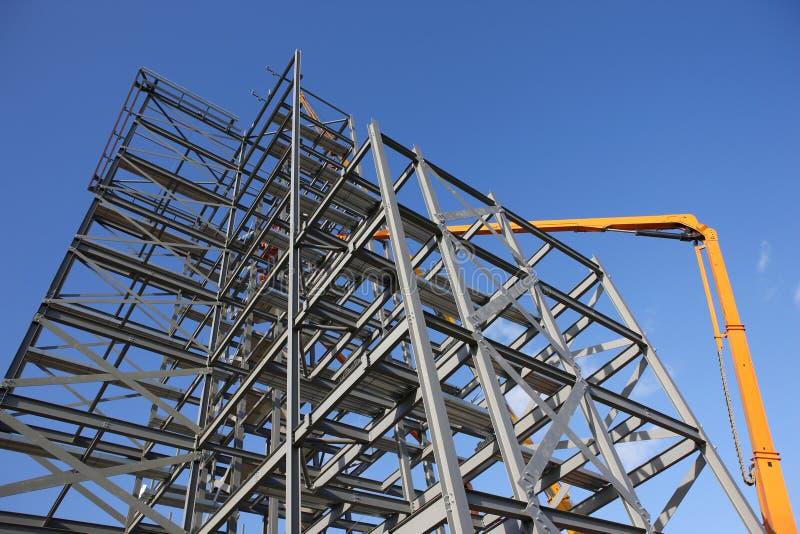 建筑结构站点钢铁制品 库存图片
