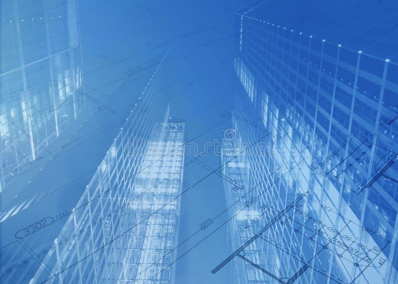 建筑计划 库存例证