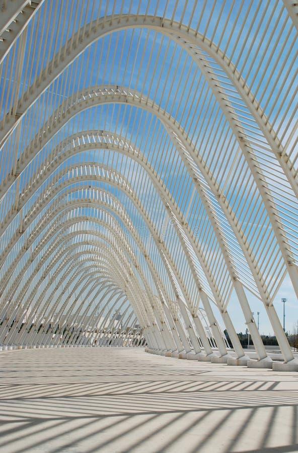 建筑设计要素olimpic钢白色 免版税库存图片