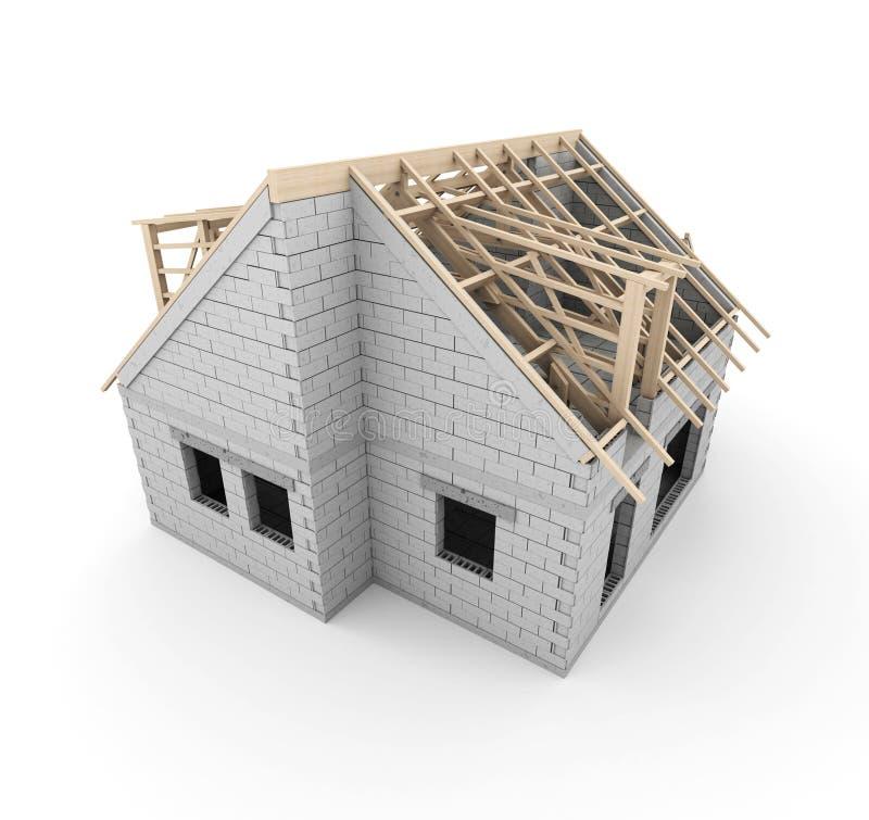 建筑详细资料门前面停车库房子视窗 库存例证
