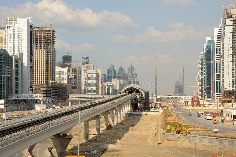 建筑迪拜地铁 库存图片