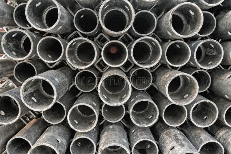 建筑钢圆杆 库存图片