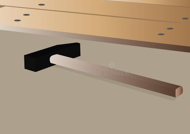 建筑锤子和板 向量例证