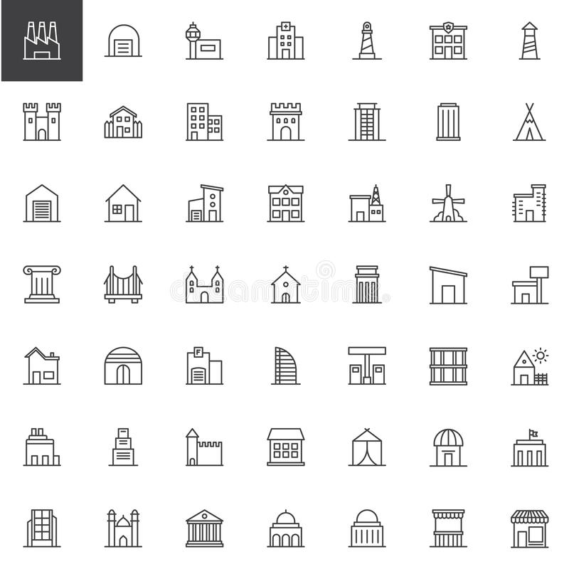 建筑限界被设置的象 库存例证