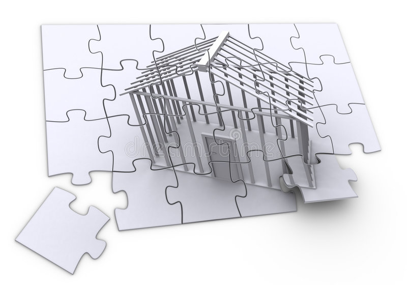 建筑难题 库存例证