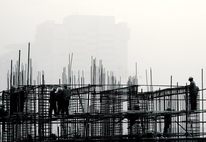 建筑雾站点 库存图片