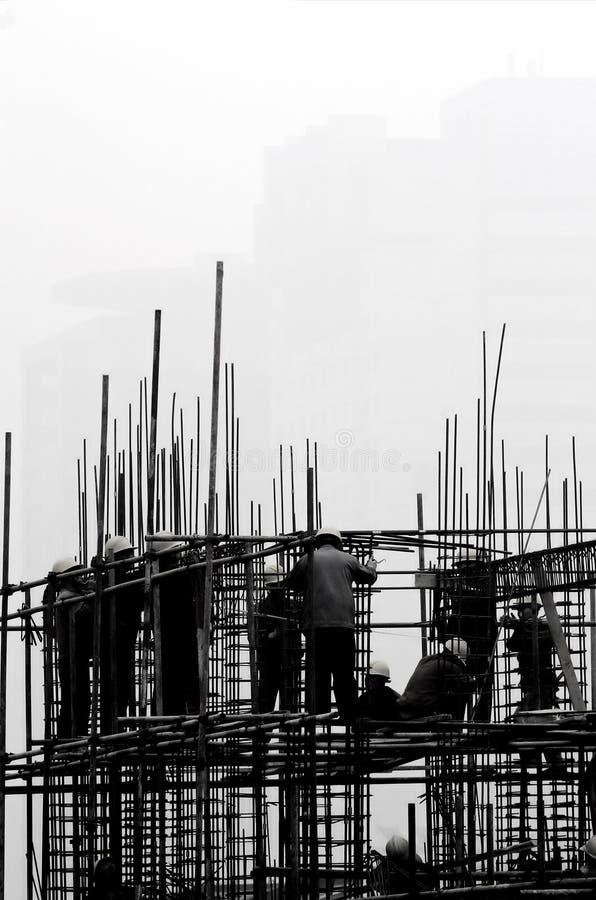 建筑雾站点 免版税库存图片