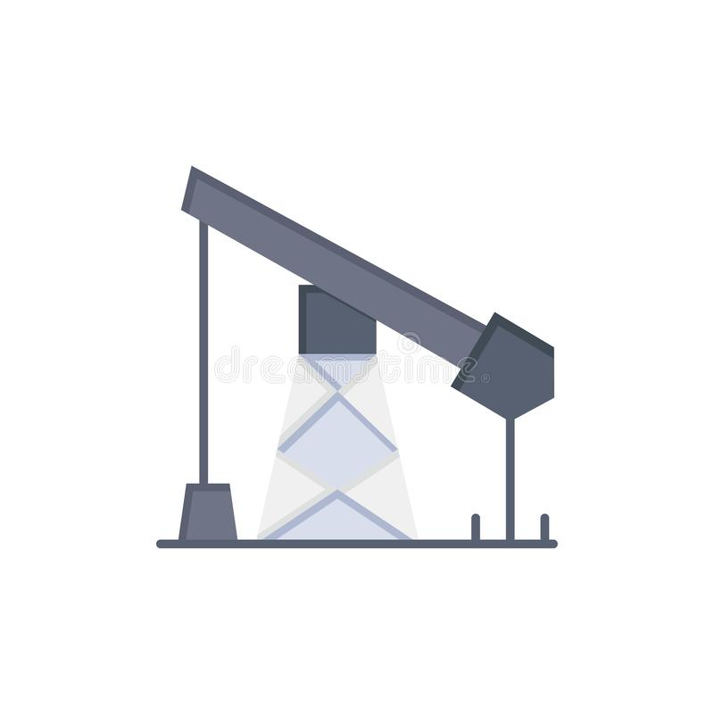 建筑,产业,石油,气体平的颜色象 传染媒介象横幅模板 库存例证