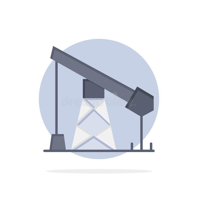 建筑,产业,石油,气体抽象圈子背景平的颜色象 皇族释放例证