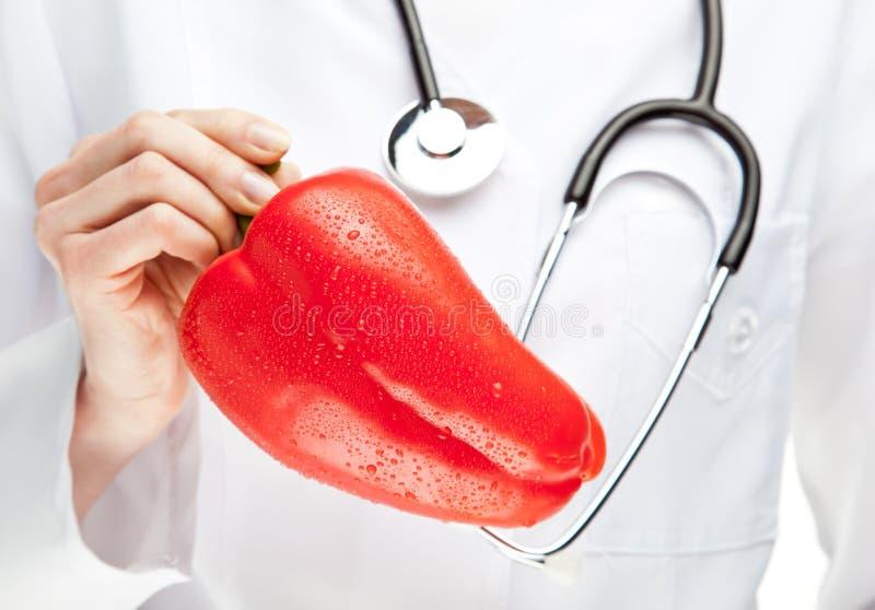 建议医生吃健康 库存照片