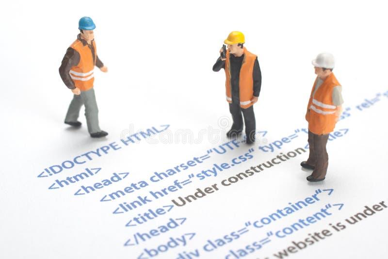 建设中的网站 免版税库存图片