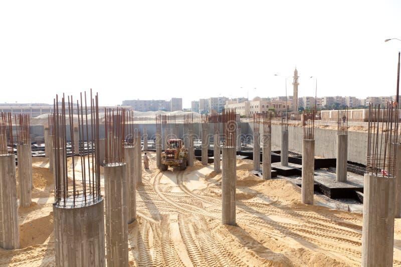 建设中站点 免版税库存照片