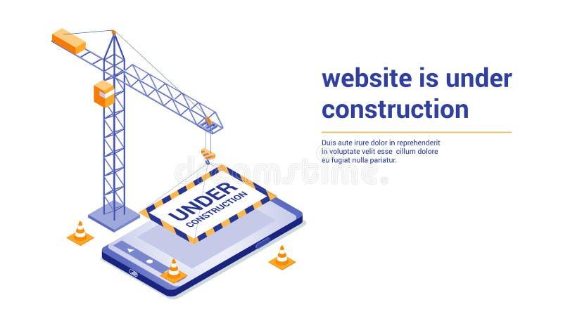 建设中第01页 向量例证