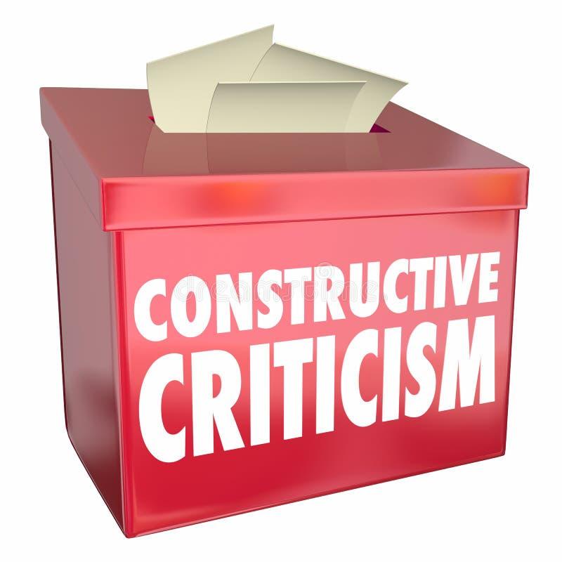 建设性批评意见箱有用的反馈3d Illust 向量例证
