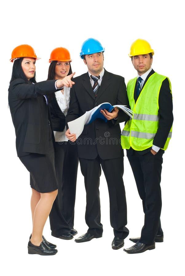 建设者工作 库存照片