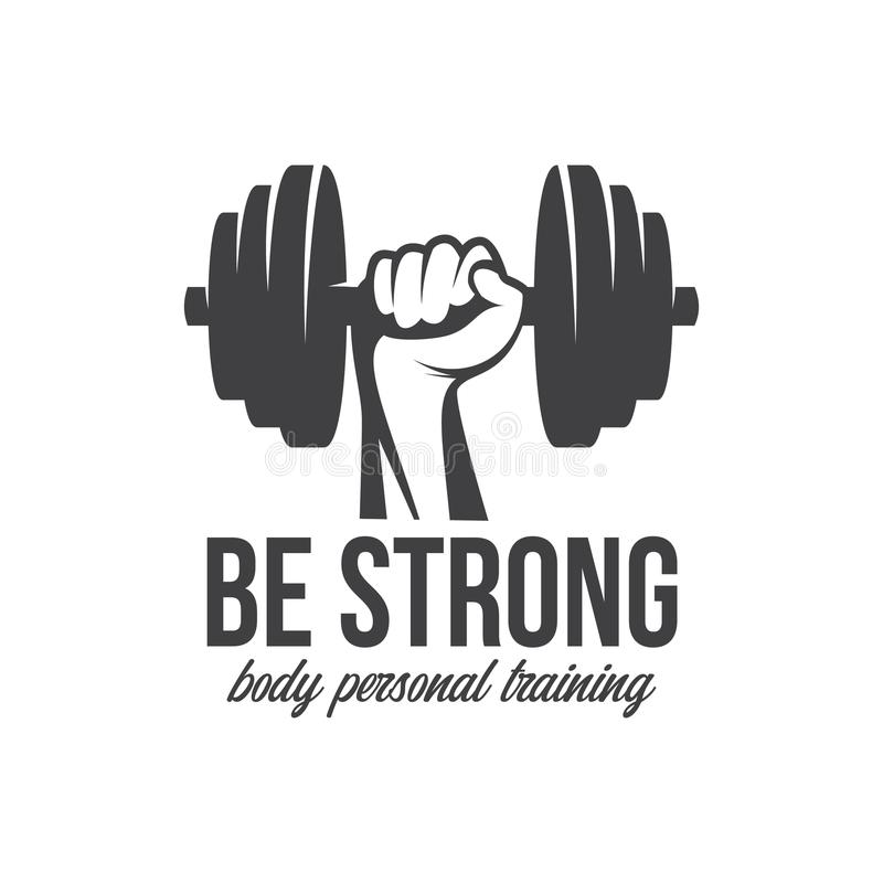 建身, powerlifting, kettlebell,锻炼略写法标志标志 健身商标象征设计元素 爱好健美者图标剪影体育运动 向量例证