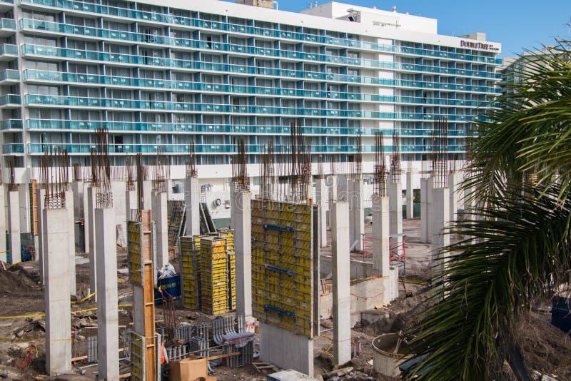 建造场所在Hallandale佛罗里达 库存照片