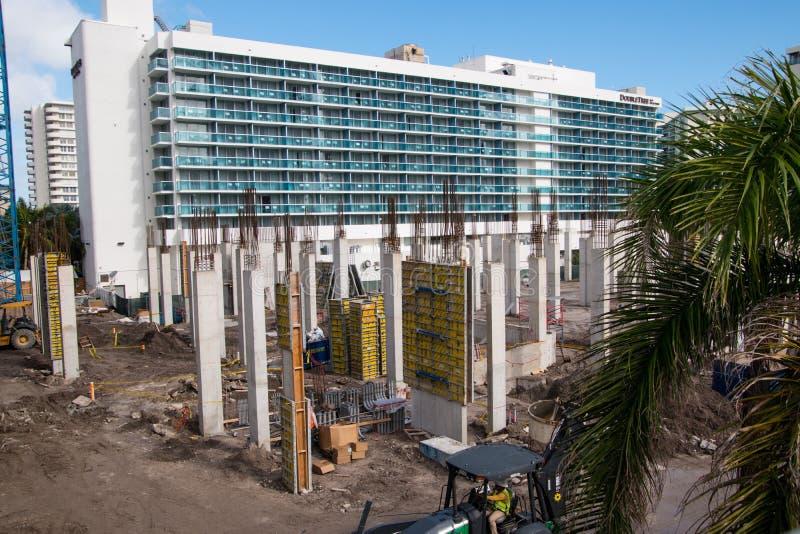 建造场所在Hallandale佛罗里达 免版税库存图片