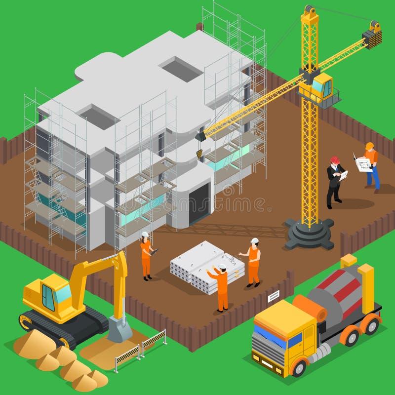 建造场所等量构成 库存例证