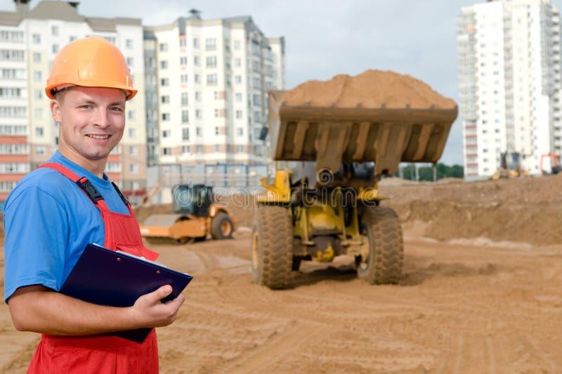 建造者建筑检查员 免版税图库摄影