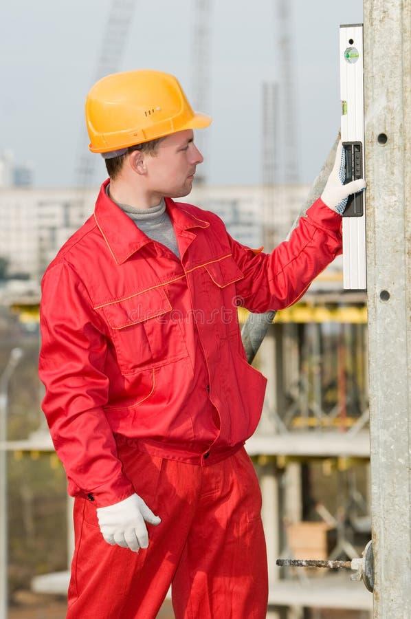 建造者数字式级别 免版税库存图片