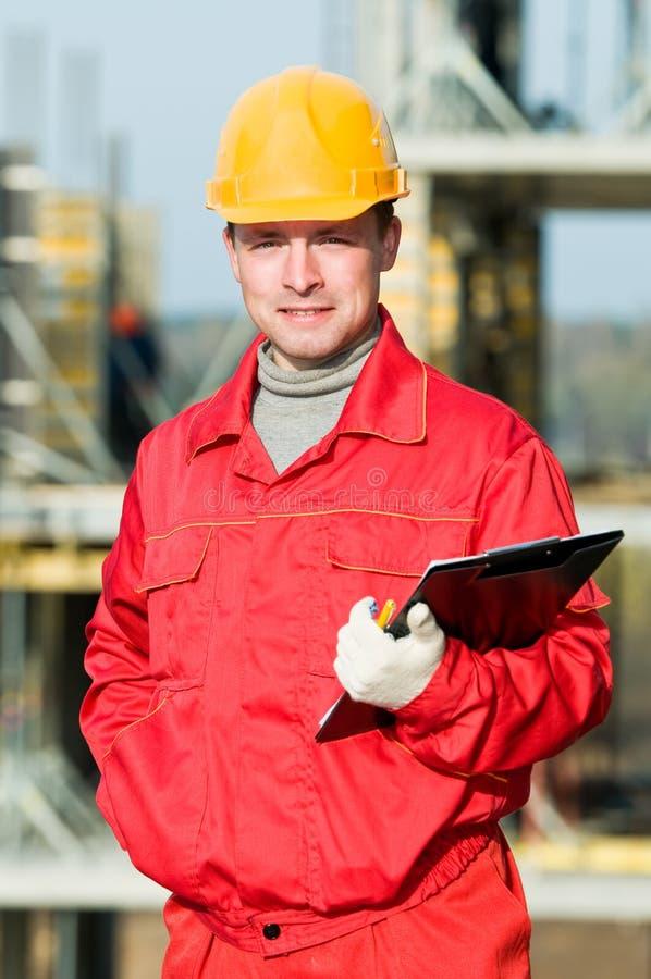 建造者检查员工作者 免版税库存图片