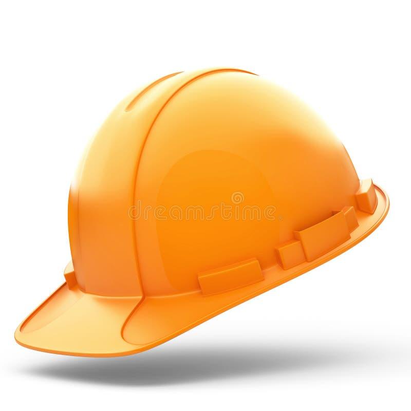 建造者的橙色盔甲 免版税图库摄影