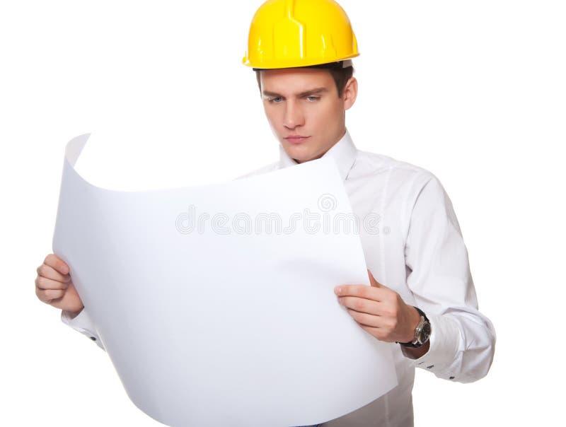 建造者英俊的照片 免版税库存照片