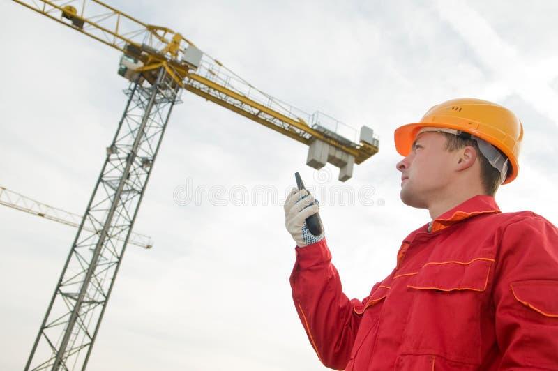 建造者起重机运行塔 免版税库存照片