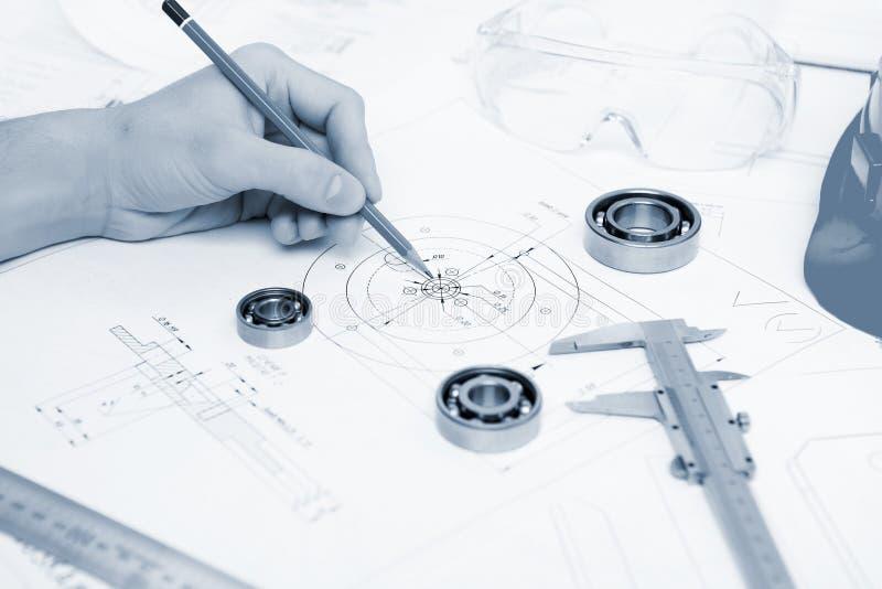 建造计划纸张 免版税库存照片