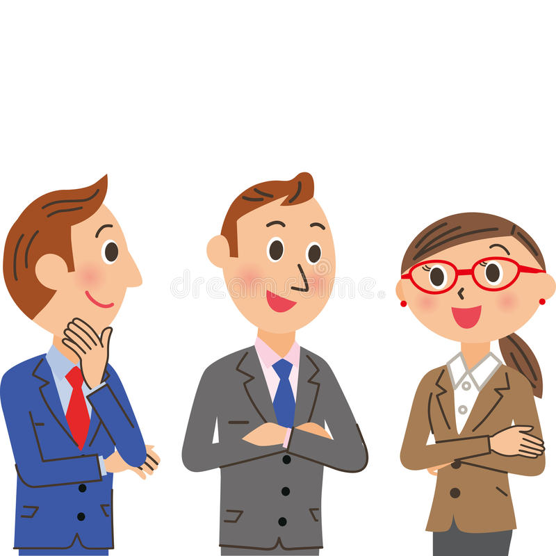 开一次会议的企业人 库存例证