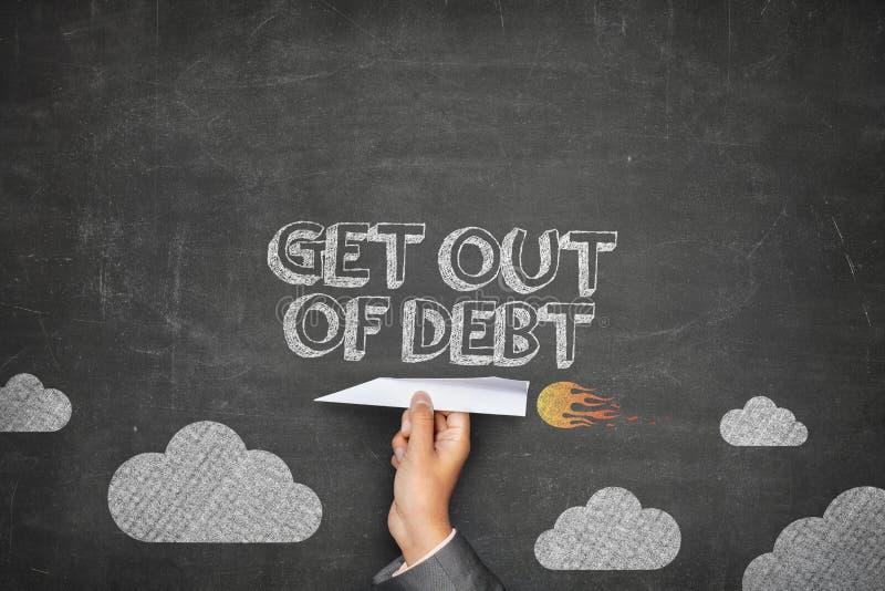 离开债务概念 免版税图库摄影
