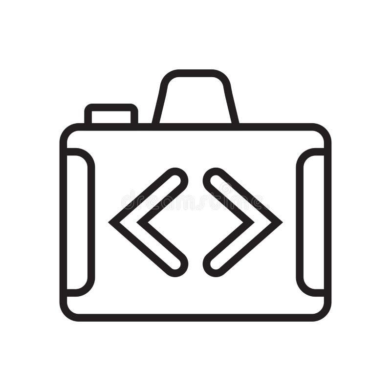 开关照相机象在白色后面和标志隔绝的传染媒介标志 库存例证