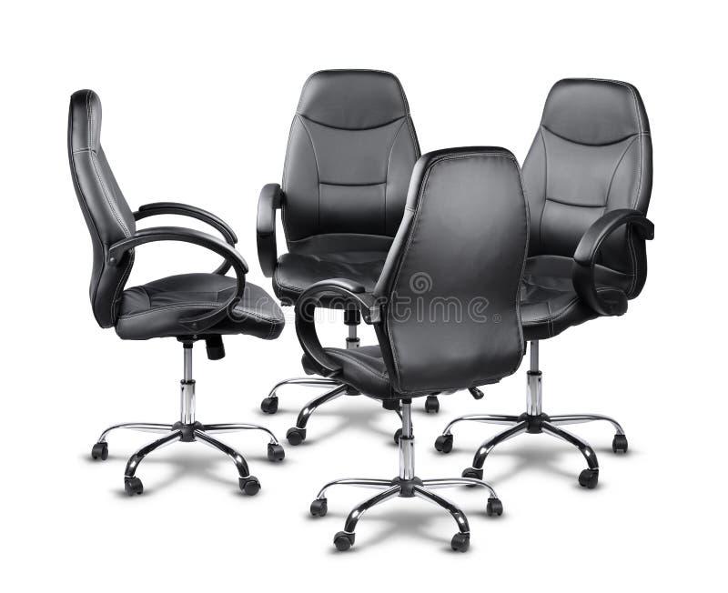 开办公室的椅子会议 免版税图库摄影
