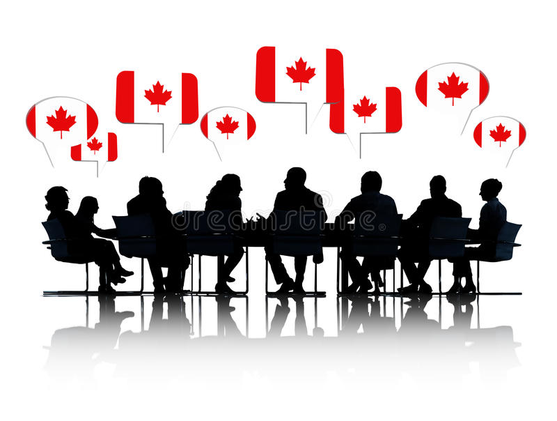 开加拿大的商人会议 免版税库存图片