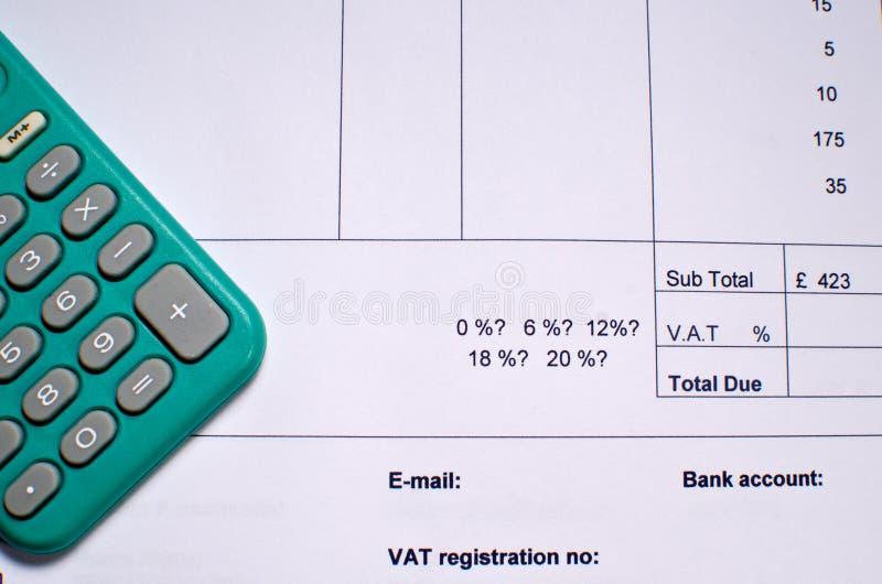 开单项VAT 免版税库存图片