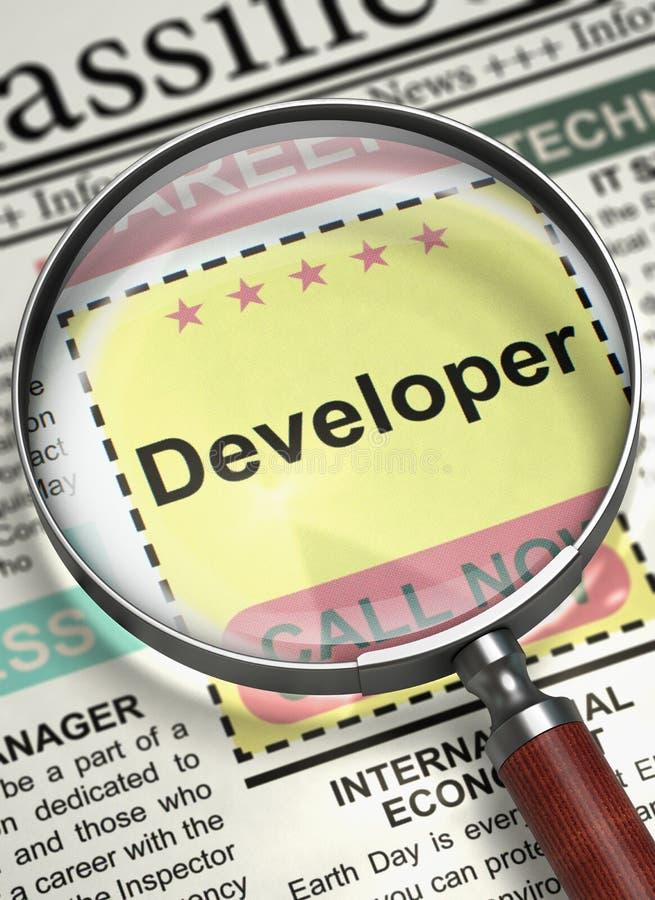 开发商参加我们的队 3d 库存例证