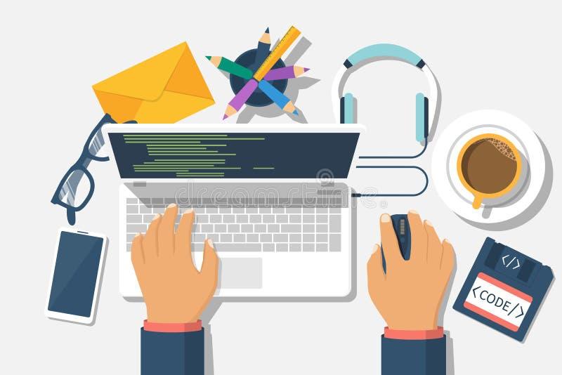 开发商网概念 库存例证