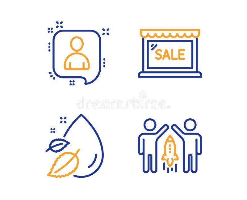 开发商聊天,销售和水下落象集合 合作标志 经理谈话,购物的商店,血清油 向量 向量例证
