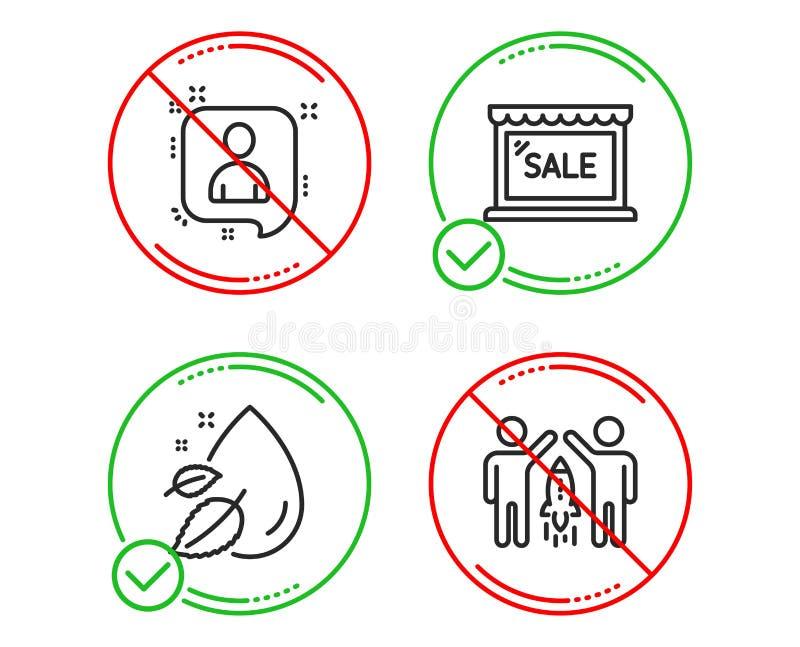 开发商聊天,销售和水下落象集合 合作标志 经理谈话,购物的商店,血清油 ?? 库存例证