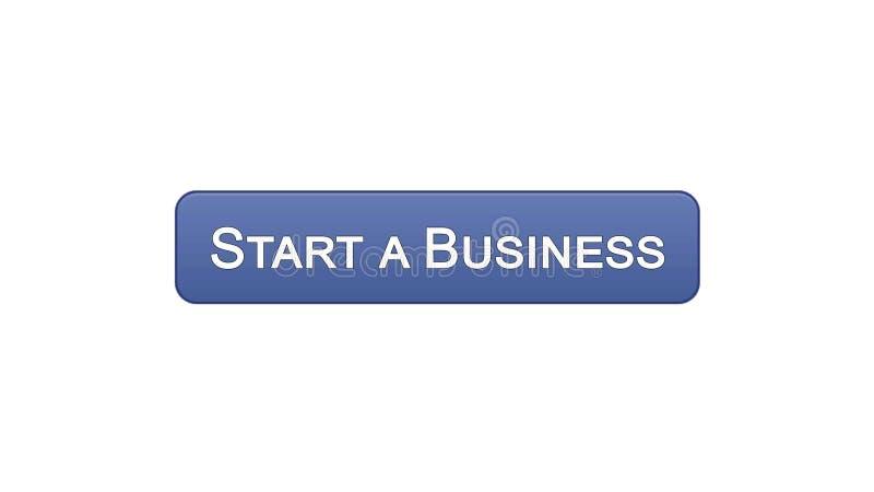 开始企业网接口按钮紫罗兰色颜色,发展计划,事业 向量例证
