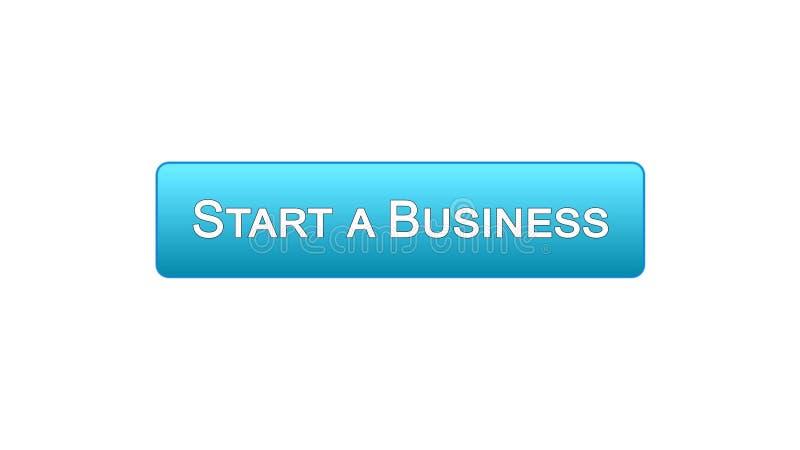 开始企业网接口按钮蓝色颜色,发展计划,事业 皇族释放例证