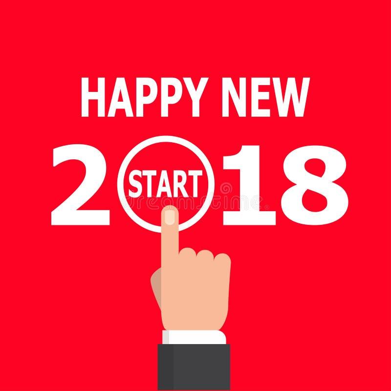 开始新年2018年想法 库存例证